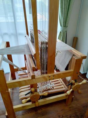 経糸張り、2台 - アトリエひなぎく 手織り日記
