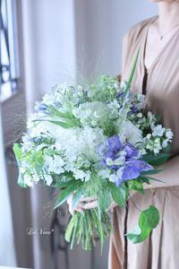7月Living flowerクラス『夏のホワイトブーケ』 - Le vase*  diary 横浜元町の花教室