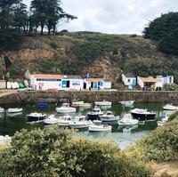 漁船が浮かぶ小さな港 フランス大西洋のユー島に隠れた宝石 Port de la Meule - keiko's paris journal                                                        <パリ通信 - KSL>