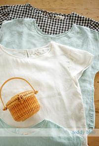 Summer Linen Blouses  リネンのブラウス - teddy blue