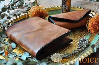 イタリアンレザープエブロ・コンパクト2つ折り財布とキーケース - 時を刻む革小物 Many CHOICE~ 使い手と共に生きるタンニン鞣しの革