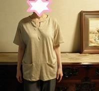 麻100%ニットでTシャツ出来上がる - タンバタンの洋裁大好き