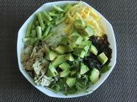 8月18日の生野菜サラダ - 食写記 ~Shokushaki's Blog~
