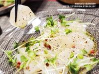 【世界のスパイスごはん<さっぱり・さわやか編>】中南米風の魚介マリネ ~ ペルーのセビーチェ。 - スパイスと薬膳と。
