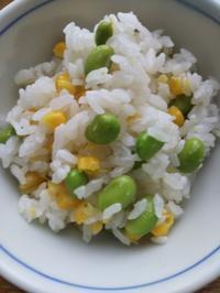 枝豆トウモロコシご飯・すだちを頂く・・・えんみについて追記有り - ちゃたゆき暮らし