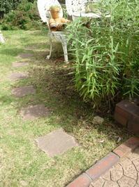 庭の小道作り - ペイント雑貨教室  春くま