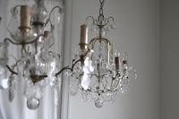 フレンチアンティーク シャンデリア ガラス フランスアンティーク プリズム ペンダントランプ 照明  ガラスのシャンデリア - clair de lune