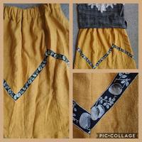 フルーツリボンの麻スカート - うららフェルトライフ