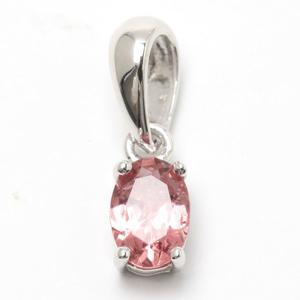 爽やかな桜色 ピンクトルマリンのペンダントトップ - 石の音