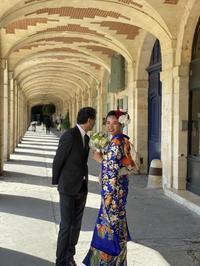 華やかに和装婚パリ - 着物でパリ