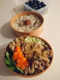 2021/9/24豚肉の生姜煮弁当 - お弁当と春の空