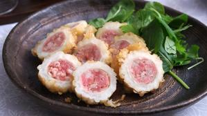 白ゴーヤに豚粗挽き肉を詰めて揚げてみた! - 登志子のキッチン