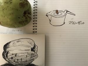 花梨の実が十字路に落ちていた - 糸巻きパレットガーデン