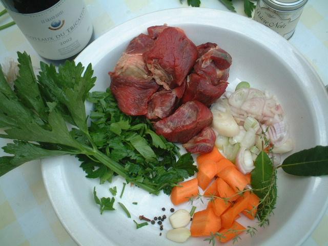 ■boeuf bourguignon 牛肉の赤ワイン煮の材料_a0014299_84635.jpg