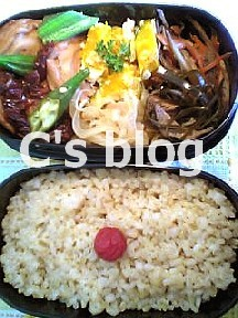 オクラと銭麩のサンドライトマト煮込み 6月22日のお弁当_a0004863_235235.jpg