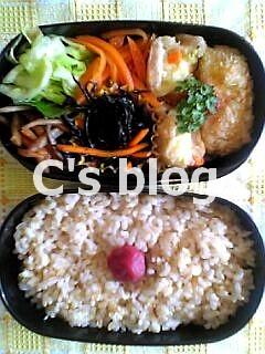 もちきびのクリームコロッケ 6月24日のお弁当_a0004863_234053.jpg