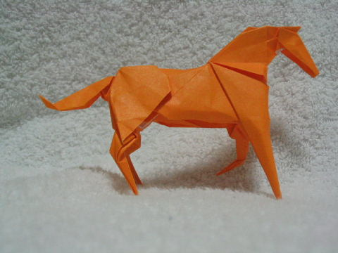 簡単 折り紙 折り紙 馬 折り方 : origami.exblog.jp