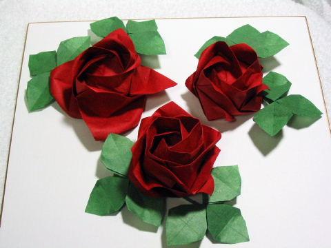 クリスマス 折り紙 折り紙バラの葉折り方 : origami.exblog.jp