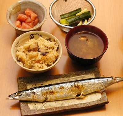 秋刀魚と松茸ご飯・さんまをやこう_a0003650_21303831.jpg