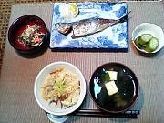 れんこんとえのきの炊き込みごはん 10月27日の晩ご飯_a0004863_2346260.jpg