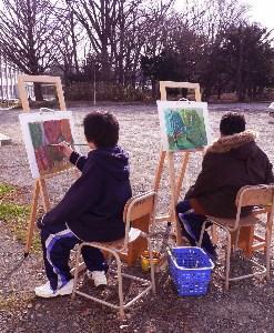 うーん、いいな若者が絵を描く姿_b0068572_20542191.jpg