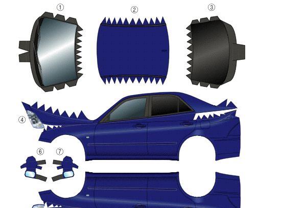 Toyota車のペーパークラフト発見♪ 頑張れ!ol!