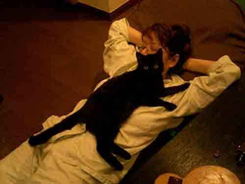 猫とくつろぐ_b0019674_2231650.jpg