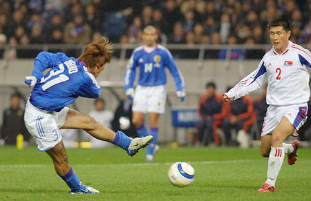 W杯予選・日本、北朝鮮に辛勝