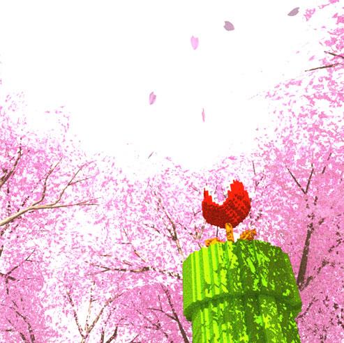 3DCGドット絵 パックンフラワー 桜