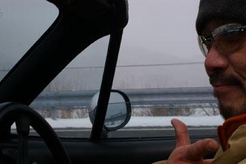 オープンカーで温泉へ! ってスキー場じゃんか! ぶり寒〜っ!{{{{(;>_<)}}}}_a0033733_7531829.jpg