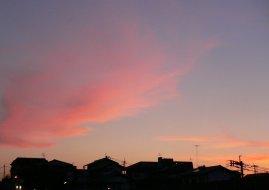 春の夕焼け_c0069048_22462949.jpg