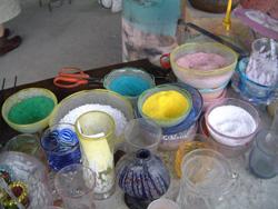色をつける為のガラス