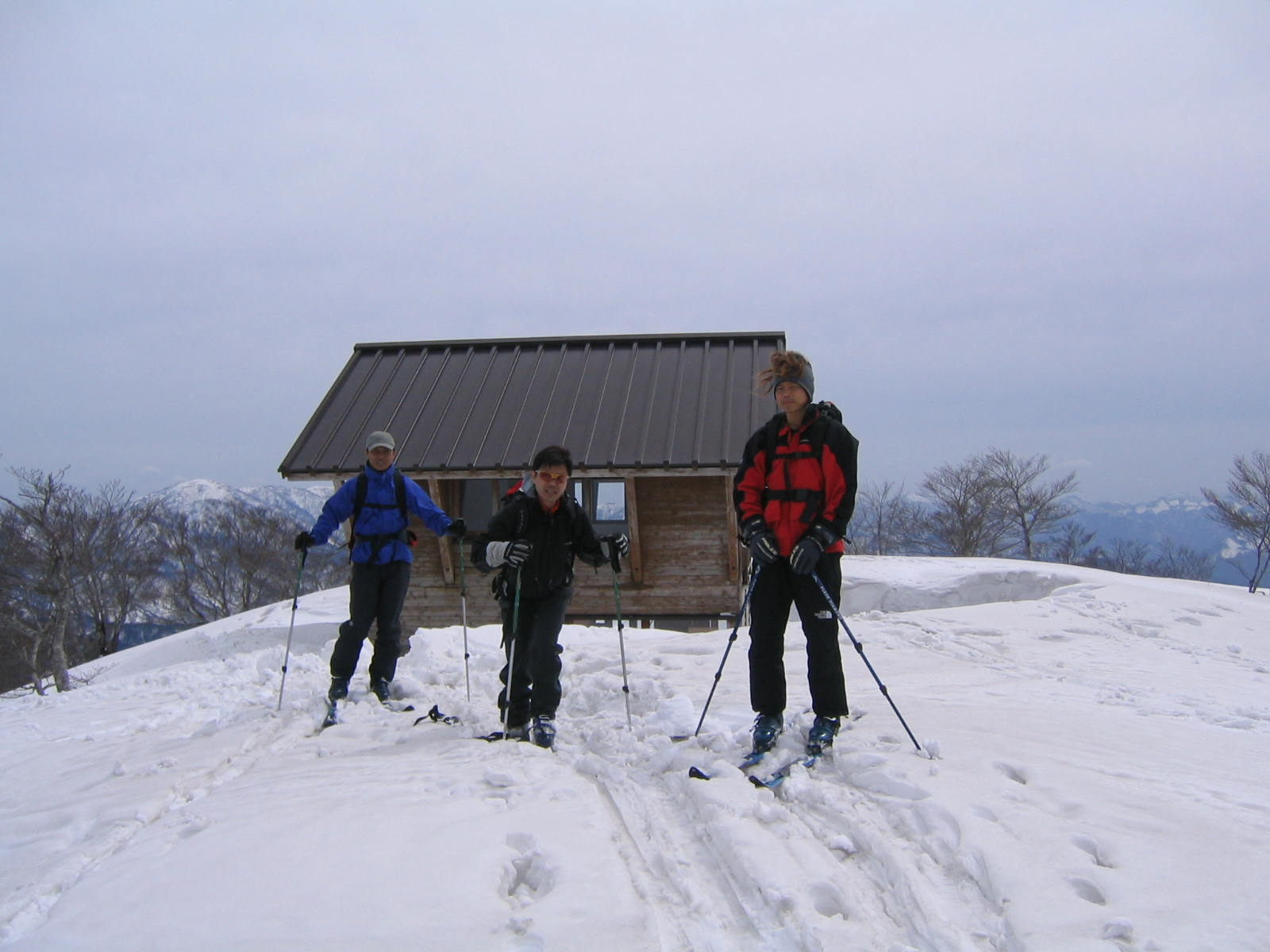 扇の山(1.309m)スキー登山 参加4名_d0007657_1735346.jpg
