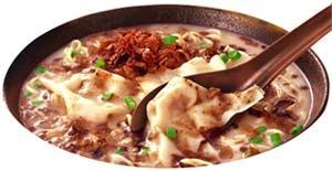 極み食感 焦がしねぎ油の豚骨ワンタン麺_c0025217_5122453.jpg