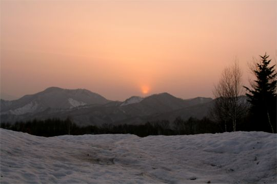 雨の予感!美しい夕日_d0012134_19413385.jpg