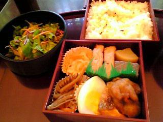 某所の和風手作り弁当 4月22日のお昼ご飯_a0004863_011199.jpg
