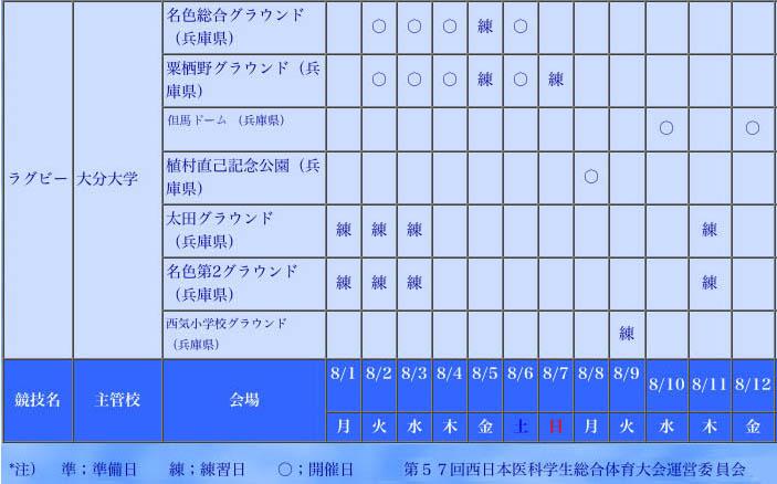 <西医体05情報>競技日程表_a0005903_2037482.jpg
