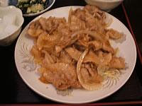 龍盛菜館(別館)@川崎の豚バラ肉の生姜焼き_d0044093_22474044.jpg