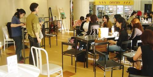 「まちかど芸術」の説明会を 大学の生協カフェでしました_c0009815_21511458.jpg