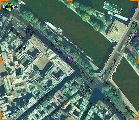 パリ造幣局の航空写真