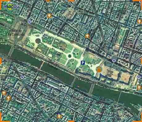 ルーブル美術館の航空写真