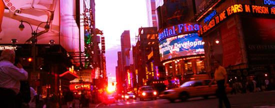 タイムズスクエアで見る夕日_b0007805_11491154.jpg