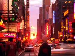 タイムズスクエアで見る夕日_b0007805_11493015.jpg