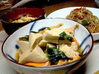 ホタテの足と高野豆腐の煮物_e0012815_23372514.jpg