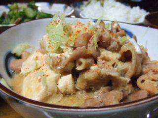 豚ホルモンと豆腐の味噌煮込み_e0012815_2232153.jpg