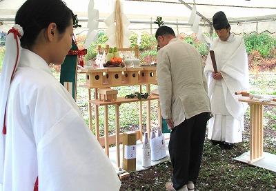 八ヶ岳の家 地鎮祭_e0010418_17382614.jpg