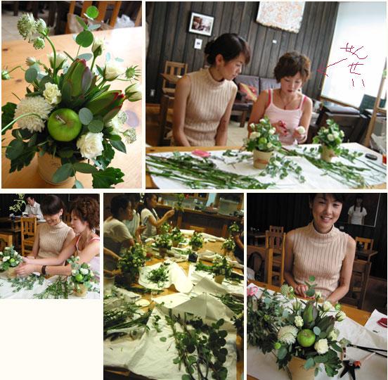 フルールイクコのお花教室はじまりました_a0017350_1164956.jpg