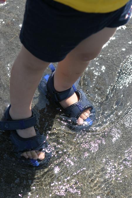 初の梅干しづくりと初の海遊び_e0025661_2142082.jpg