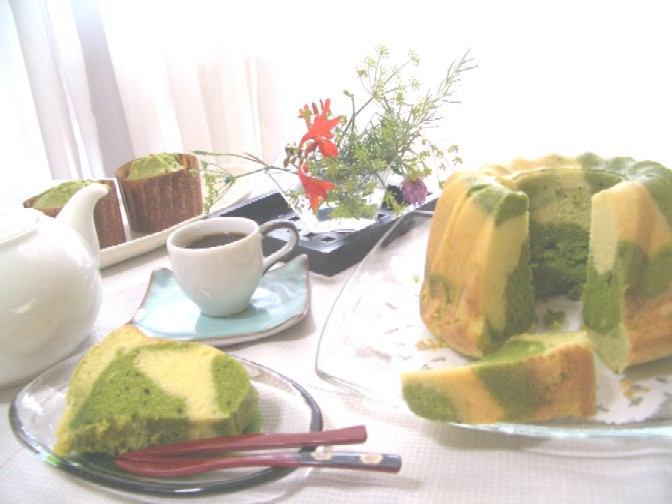 クグロフ型・抹茶マーブルケーキ_d0034447_16491847.jpg