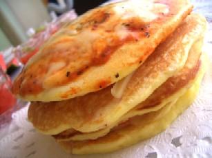 トマト嫌いでもおいしいゼリーとベーコンチーズのパンケーキ_d0034447_12244890.jpg